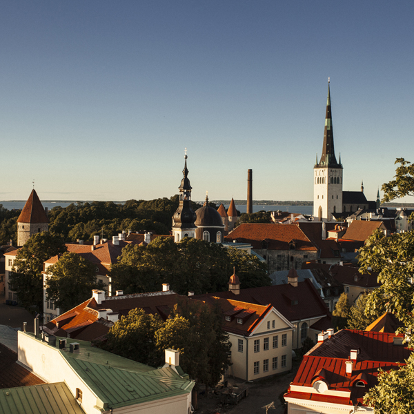 City view from Toompea Hill in Tallinn