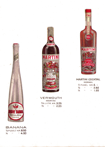 Matiesen imported liqueurs - Martini Rossi vermouth, Martini cocktail